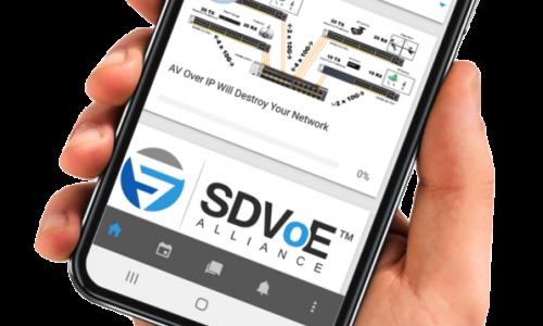 SDVoE Academy Mobile App Available in iOS, Google Play App