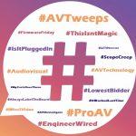 popular AV hashtags, audiovisual hashtags