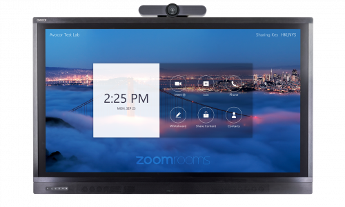 Avocor Teams with Logitech to Deliver Collaboration Solution for Zoom Rooms