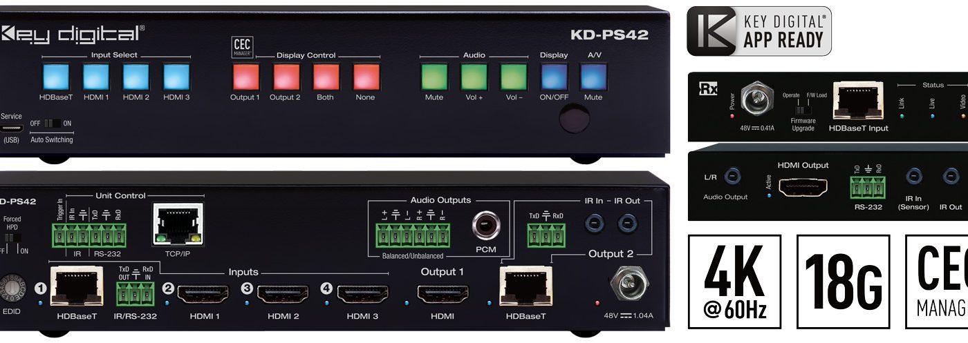 Key Digital Introduces KD-PS42 4K/18G Presentation Switcher