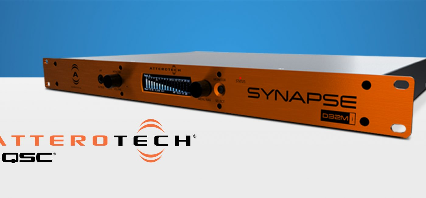 QSC Ships Attero Tech Synapse D32Mi Networked Audio Interface