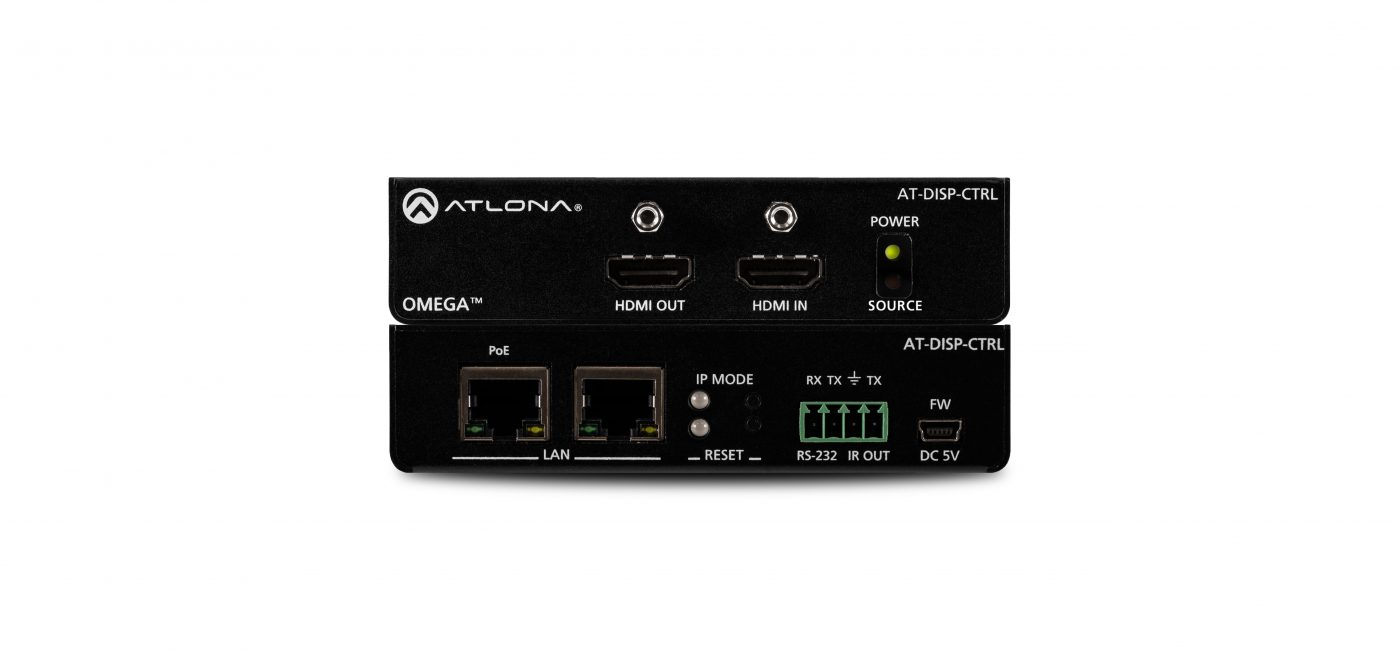Atlona Launches 4K/UHD-Ready AT-DISP-CTRL Standalone Display Control System