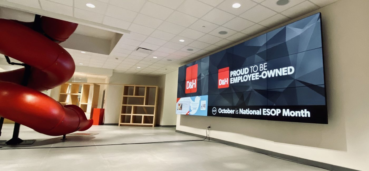 D&H Distributing Leads by Example with Video Wall Powered by Gefen in HQ