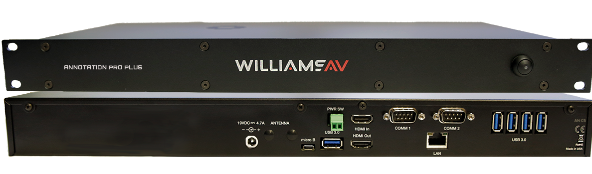 Williams AV Launches Annotation Pro and Annotation Pro Plus Annotation/ Video Telestrator Systems