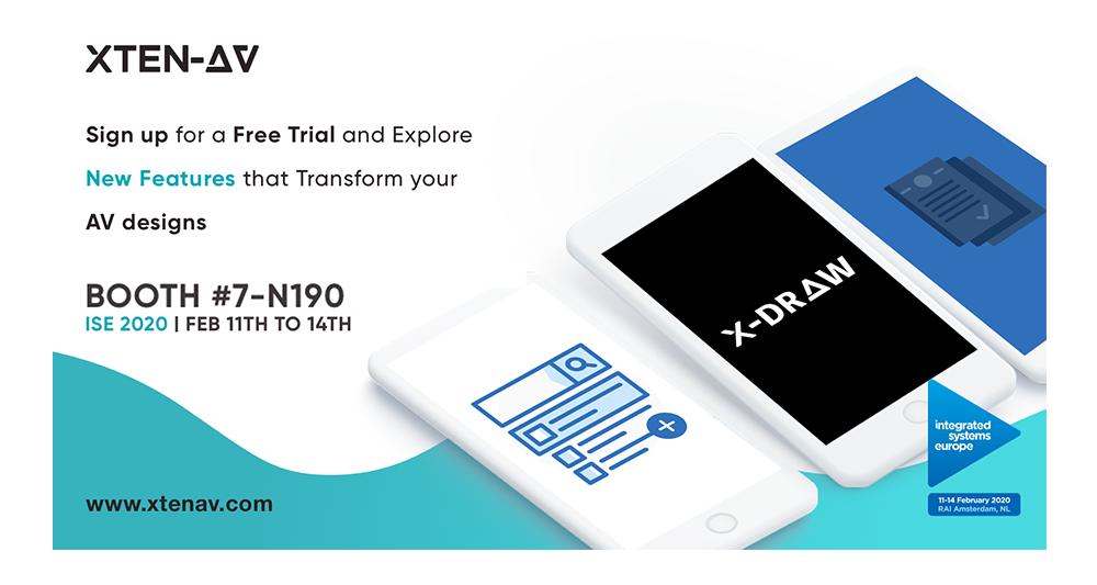 XTEN-AV Announces X-DRAW, an Audio Visual Design Drawing & Editing Tool