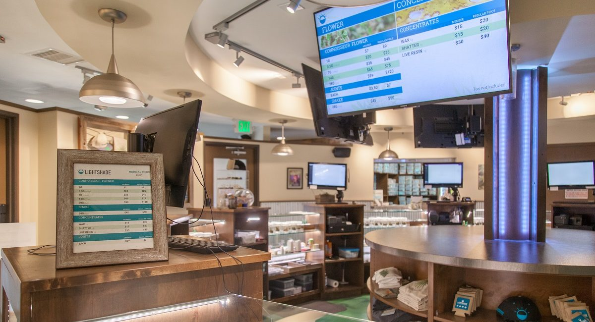 Weed-Buying Experience at Lightshade Dispensaries Improved by BrightSign, Ping HD, Onward Content