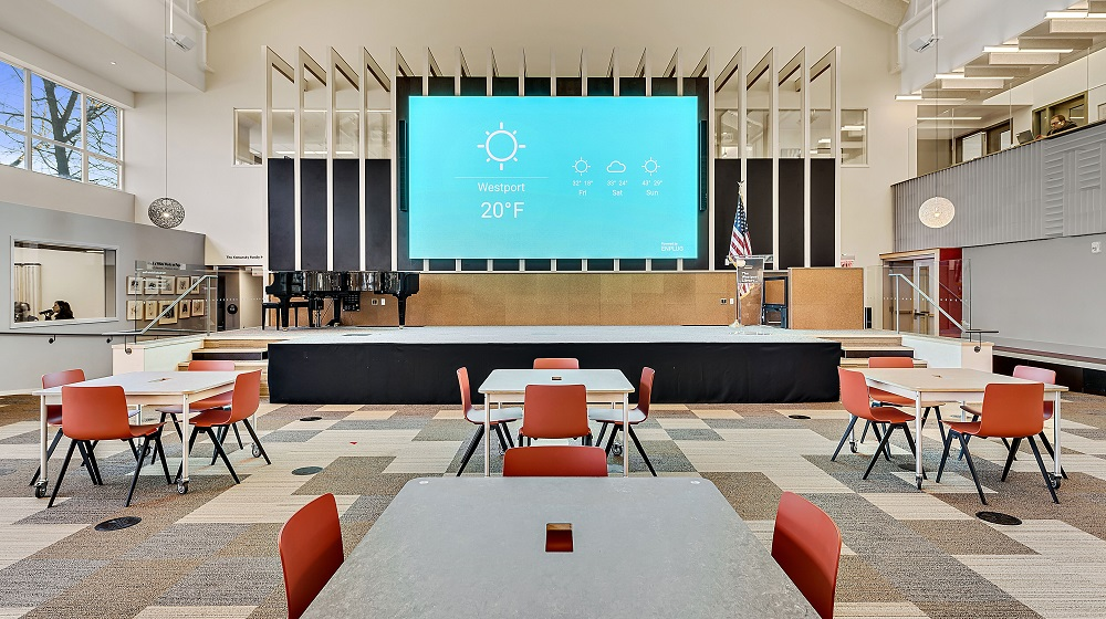Radiance LED Wall is a Centerpiece of the Westport Library