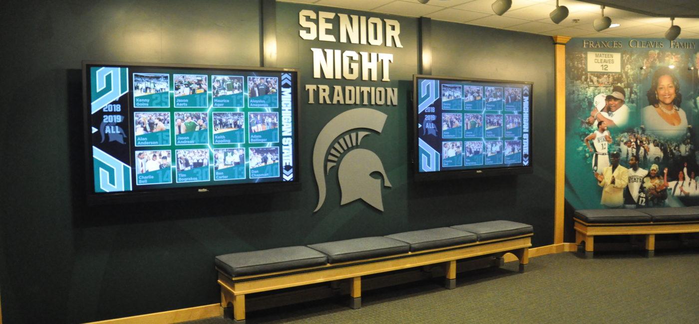 BrightSign Powers Michigan State University Wall of Fame Celebrating Basketball Greatness