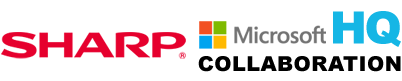 Sharp Microsoft Collaboration HQ Logo