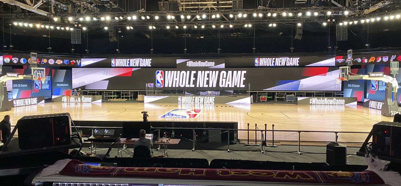 DiGiCo's Quantum7 Console is the Audio Hub for the NBA's Season Restart