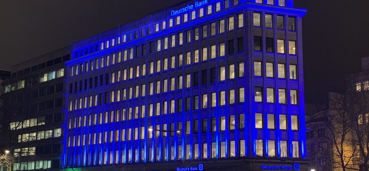 Magic Monkey Brings Deutsche Bank Brussels To Life with LED Lighting