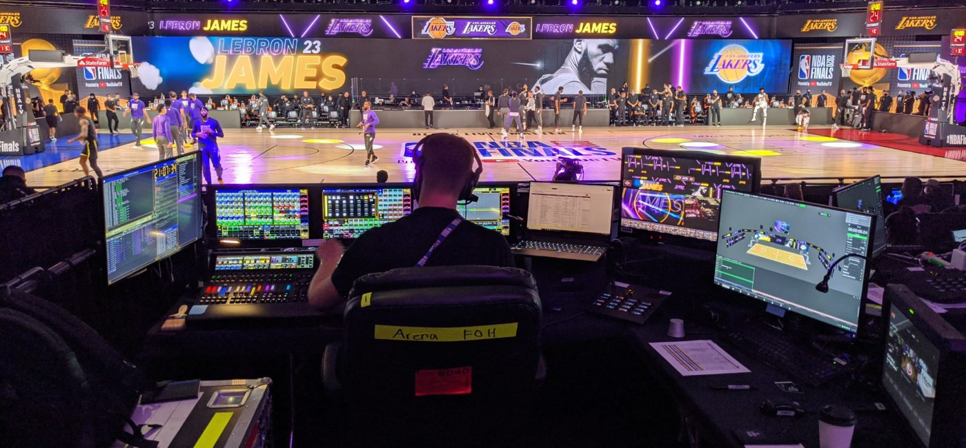 NBA Bubble Video Systems Highlighted by MA Lighting grandMA3 Consoles