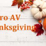 pro AV industry thanksgiving 2020