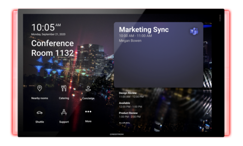 Crestron 70 Series Scheduling Panels Microsoft Teams