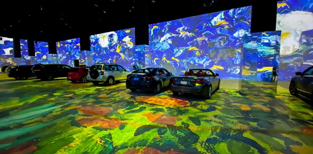 Drive-In Van Gogh Exhibit Controlled by 7thSense's Medialon Showmaster LE