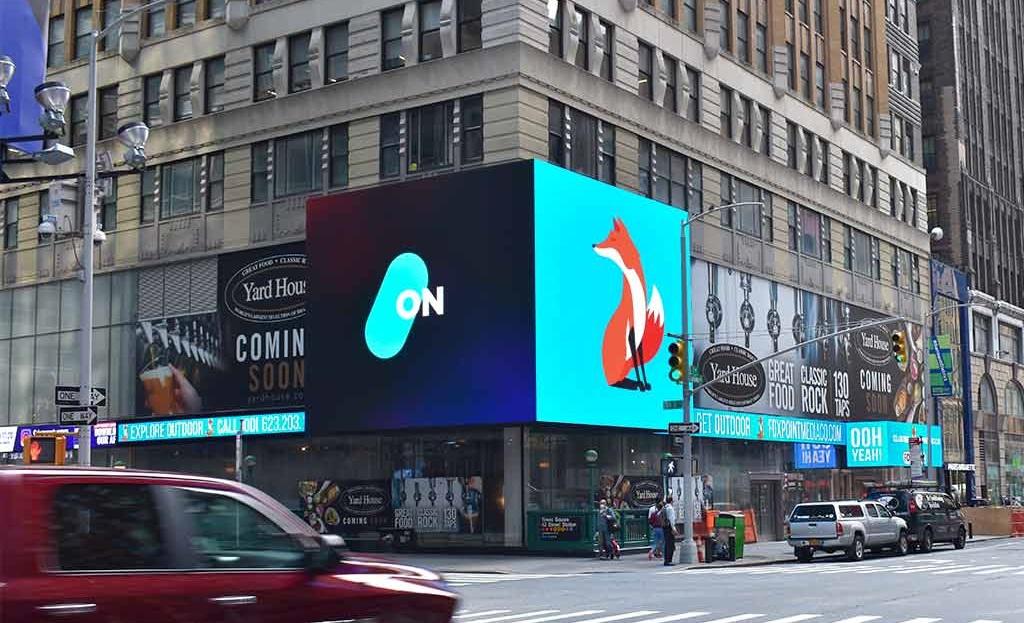 SNA Displays Brings Another LED Display to Manhattan Street Corner
