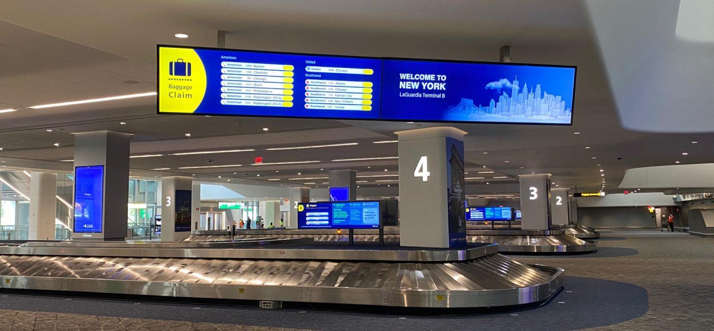 LaGuardia Airport Terminal B Enhances Travel Experience with 39 LG Displays