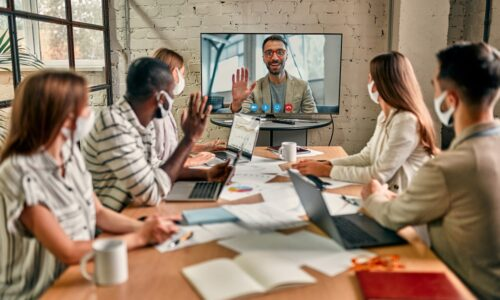 video conference hybrid work