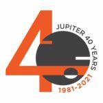 Jupiter Systems 40th logo