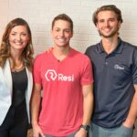 Pushpay CEO Molly Matthews, Paul Martel, Resi CEO and founder, and Collin Jones, Resi President